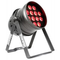 Beamz BPP220 12x12W Quad LED Par64 red angle