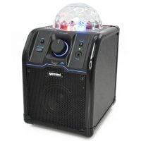 Gemini MPA-500B Portable Bluetooth Speaker with Light - Black Angle View