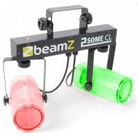 2Some-Clear Beamz LED DJ Effect Light Duo Display