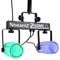 2Some-Clear Beamz LED DJ Effect Light Duo