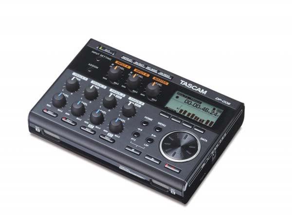 tascam dp 006 portable 6 track digital multitrack recorder dj city. Black Bedroom Furniture Sets. Home Design Ideas