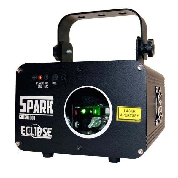 Eclipse Spark AVE 1000mW Green Laser Light front angle