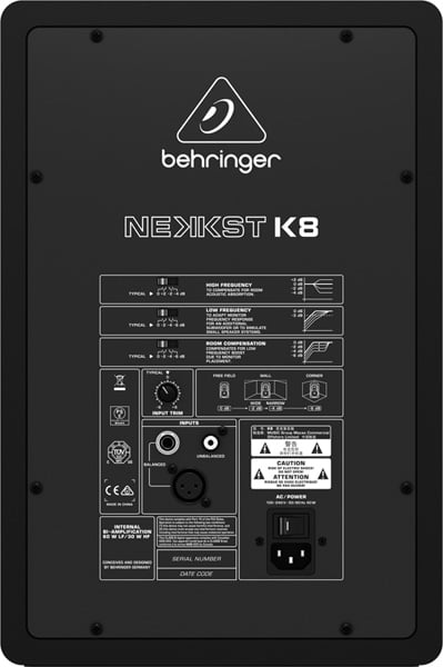 behringer k8 nekkst studio monitor 8 inch dj city. Black Bedroom Furniture Sets. Home Design Ideas