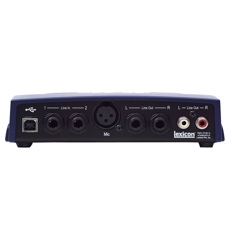 Lexicon Alpha Audio Recording Interface With Cubase
