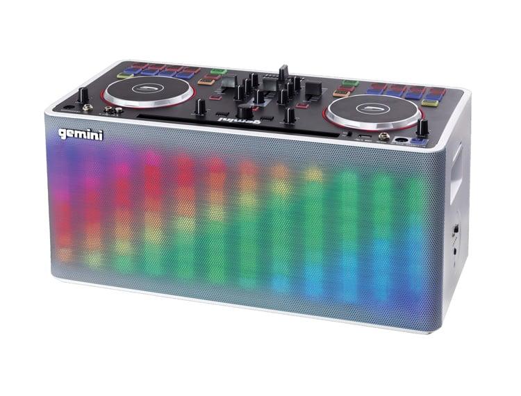 Gemini Mix2GO DJ Station coloured
