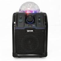 Gemini MPA-500B Portable Bluetooth Speaker with Light - Black Front View