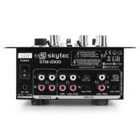 PK-GEMCDJ300 Gemini DJ Players and Skytec Mixer STM-2300 Rear