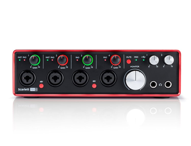 focusrite scarlett 18i8 2nd gen usb audio interface dj city. Black Bedroom Furniture Sets. Home Design Ideas