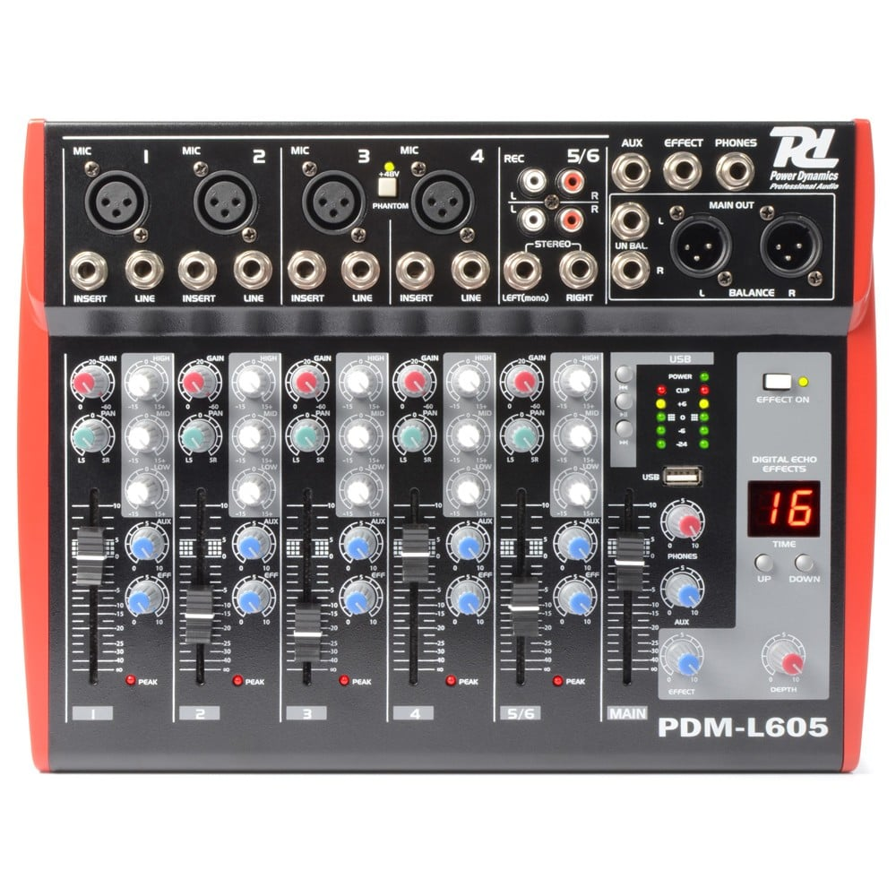 Power Dynamics Pdm L605 Pa Mixer 6 Channel Dj City Audio Sku