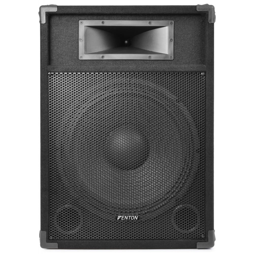 "Fenton PK-CSB15 15"" Powered Speaker Pair 1600W - DJ City"