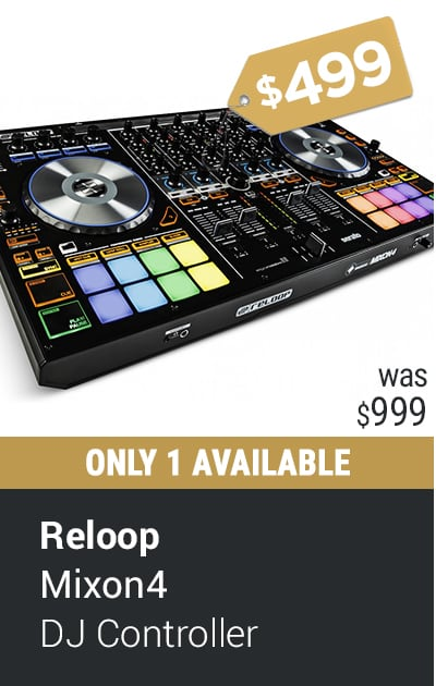 RELOOP MIXON 4 HYBRID SERATO DJ CONTROLLER 4 CHANNEL