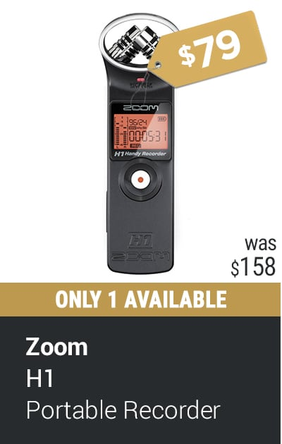 ZOOM H1 PORTABLE FIELD RECORDER