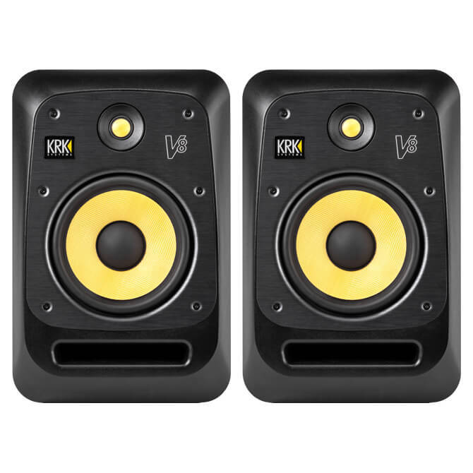 krk v8 s4 studio monitor 8 inch pair dj city. Black Bedroom Furniture Sets. Home Design Ideas