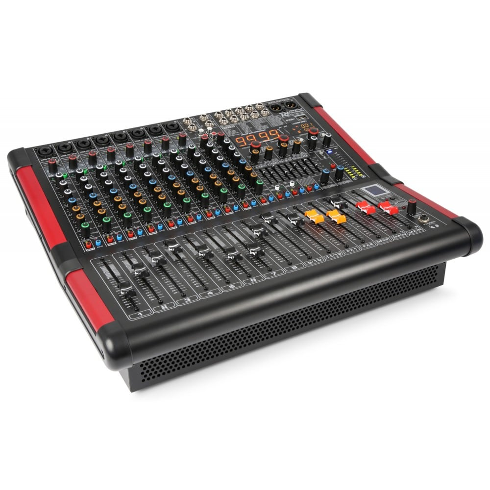 Power Dynamics Pdm S1204a 12 Channel Powered Mixer 700w