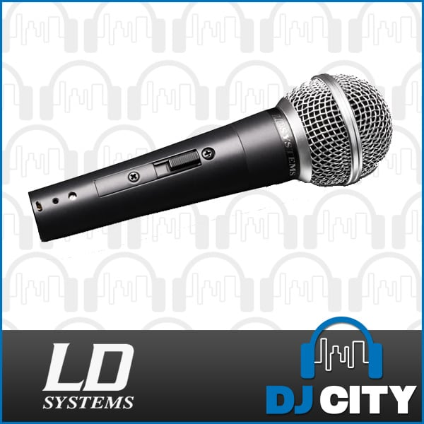 Details about LD Systems D1006 Dynamic Vocal Stage Microphone with Clip &  on/off switch