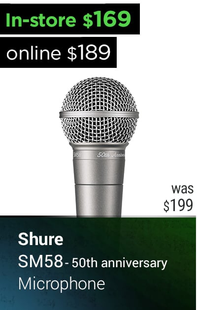 SHURE SM58-50 DYNAMIC MICROPHONE 50TH ANNIVERSARY EDITION