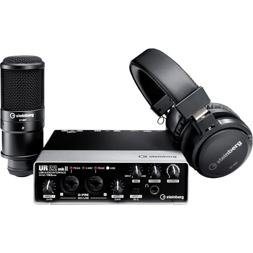 steinberg ur22 mkii recording pack complete studio bundle dj city. Black Bedroom Furniture Sets. Home Design Ideas