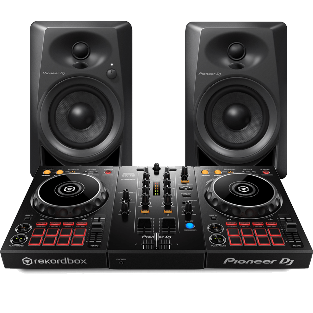 Pioneer Dj Ddj 400 Rekordbox Dj Starter Pack With Monitor