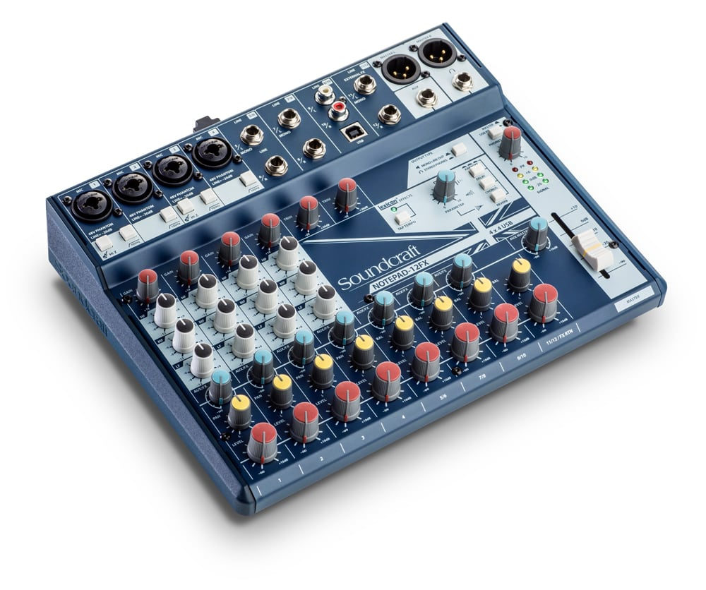Soundcraft Notepad 12fx Compact 12 Channel Pa Mixer With Usb And Fx Original