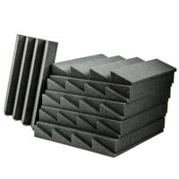 Acoustic Foam Wedge Charcoal - 50 Pack
