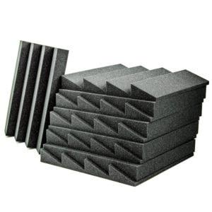 Acoustic Foam Wedge Charcoal - 100 Pack