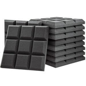 Acoustic Foam Grid Panel Charcoal - 20 Pack