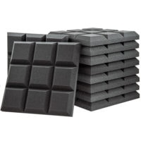 Acoustic Foam Grid Panel Charcoal - 30 Pack