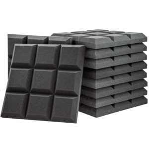 Acoustic Foam Grid Panel Charcoal - 100 Pack