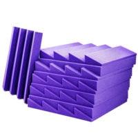 Acoustic Foam Wedge Purple - 20 Pack