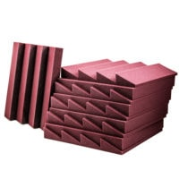Acoustic Foam Wedge Burgundy - 50 Pack
