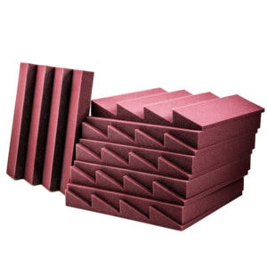 Acoustic Foam Wedge Burgundy - 100 Pack