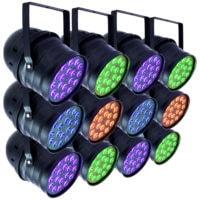 RGB Par Can 12 Pack