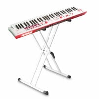 Korg Kross2 61 Key Music Workstation Grey Red Neon with FREE Stand