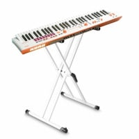 Korg Kross2 61 Key Music Workstation Grey Orange Neon with FREE Stand
